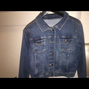 Navy blue jean jacket